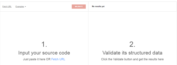 structured data validate