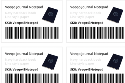 barcode label printing with Veeqo