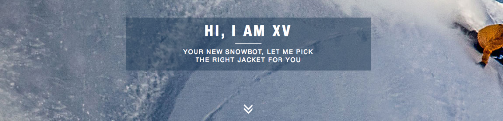 North Face gave their Snowbot technology service the name XV