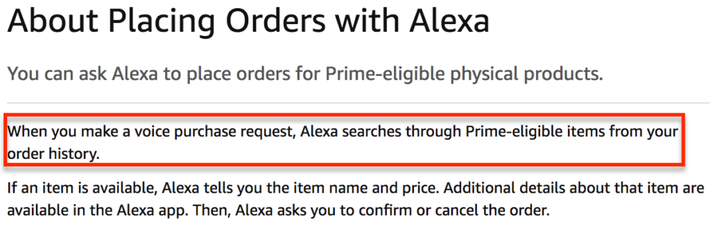 Amazon Alexa Help Section shot