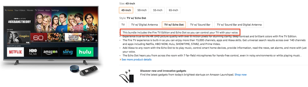 Can now purchase Amazon TV with artificial intelligence Alexa control