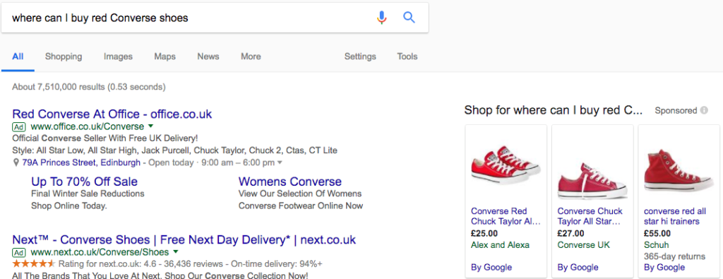 google converse search data