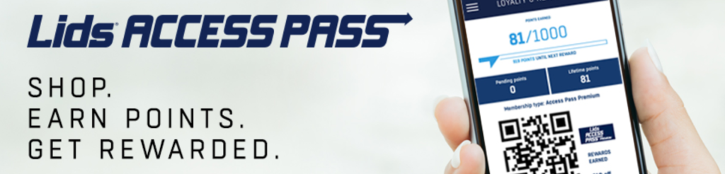 Lids Access Pass lets you view reward data online and via app service