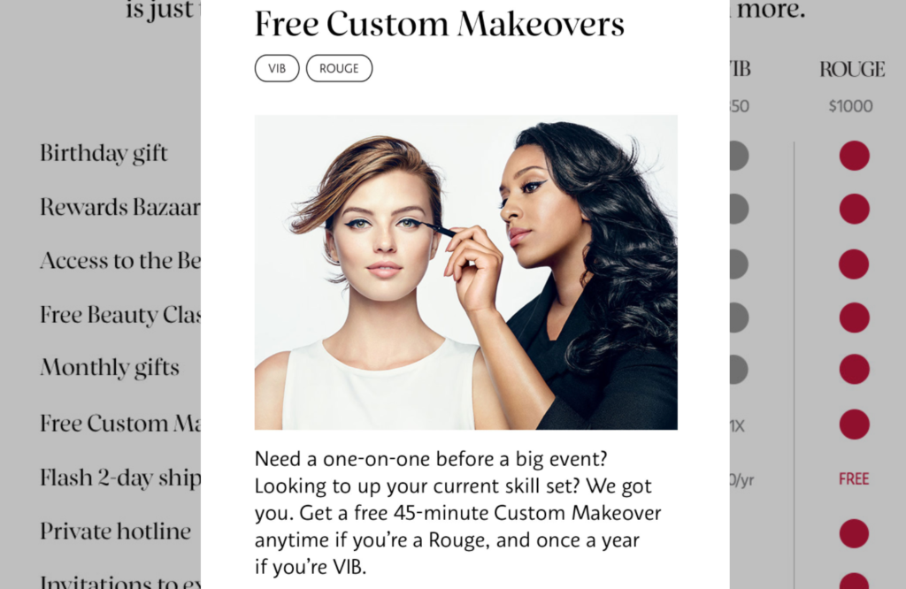 Sephora Beauty Insider allows to provide a better customer experience for more valued and important customers