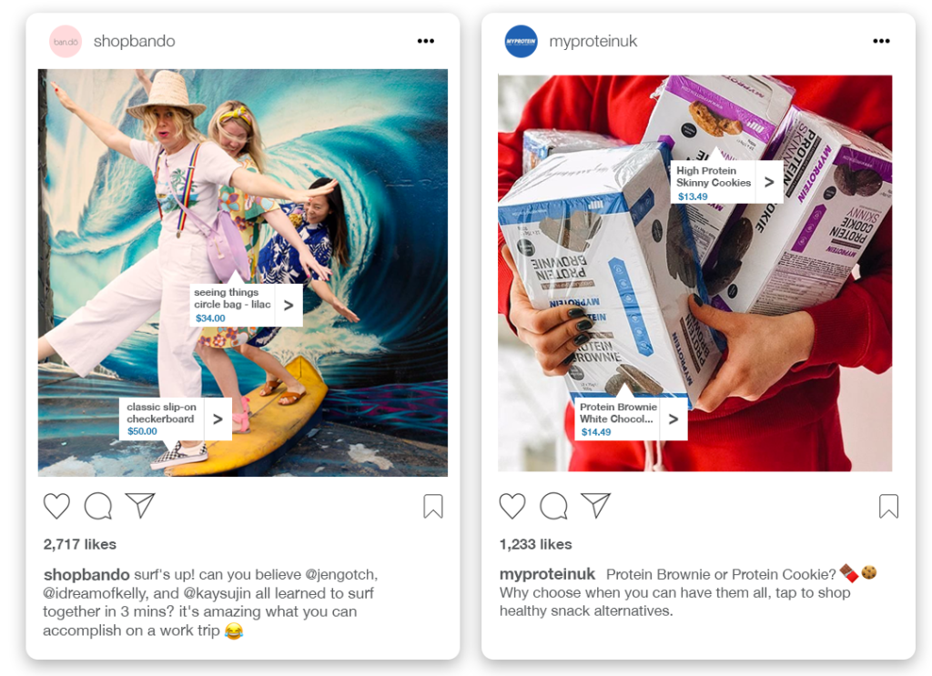 Instagram shoppable posts examples