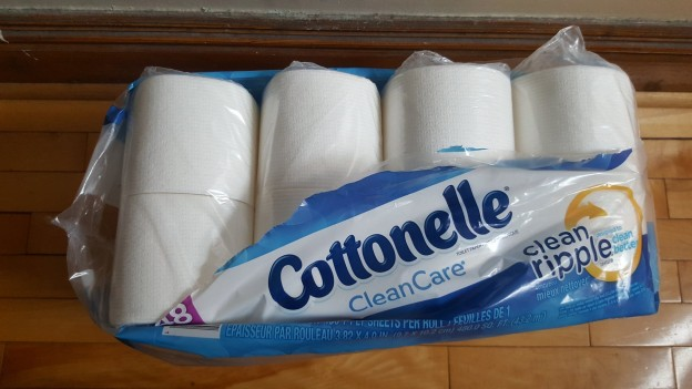 Cottonelle have their toilet tissue products in lots of plastic