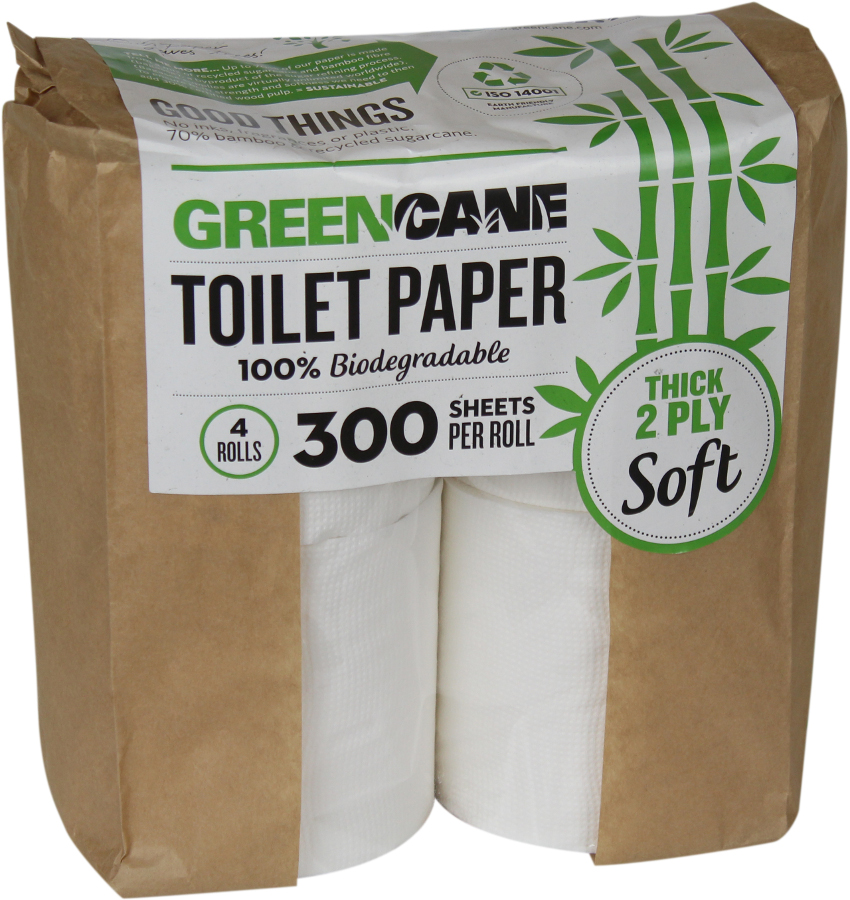 Greencane store their toilet paper in recycled paper made to be environmentally friendly packaging