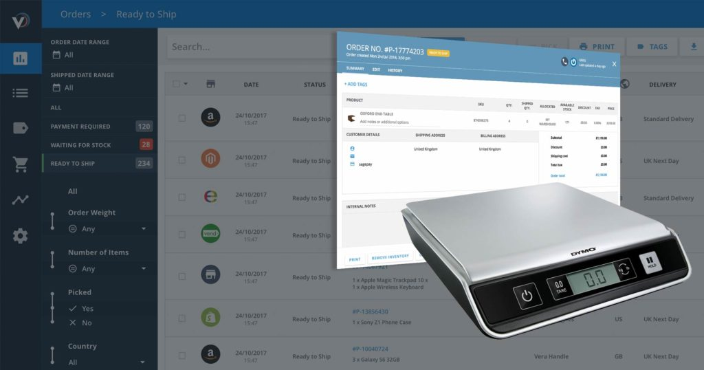 Say Hello to Easy Package Weighing with Veeqo's New USB Scales Connection
