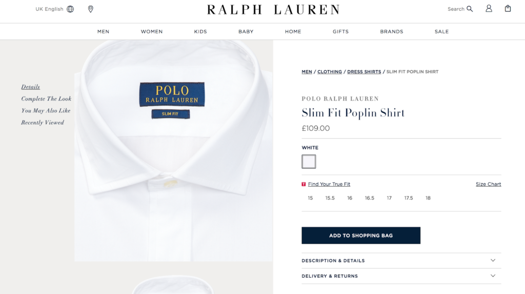 Ecommerce Pricing Strategy Ralph Lauren
