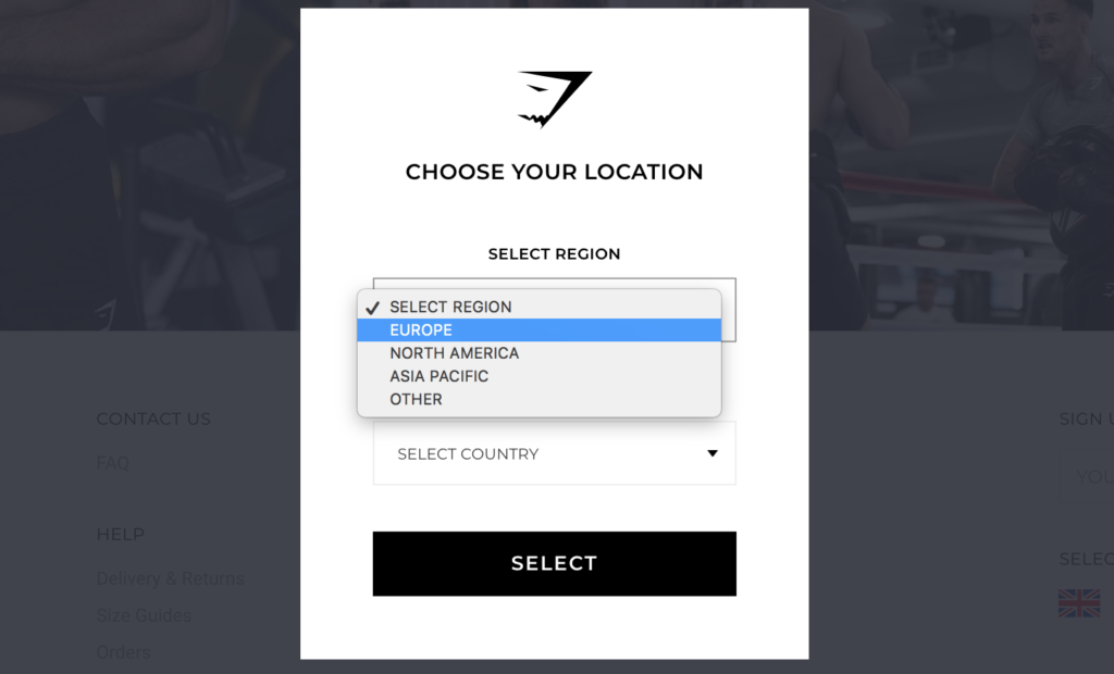 Global Ecommerce: GymShark choose regions and stores based on commerce market