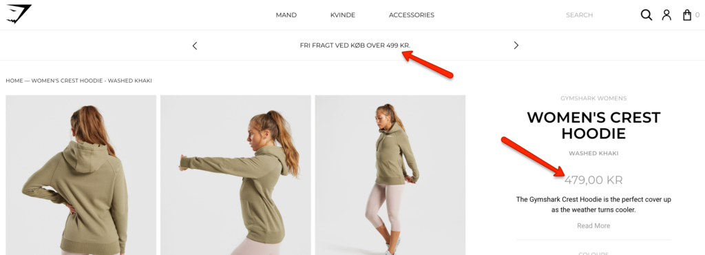 Global Ecommerce: GymShark changing currency even for emerging markets