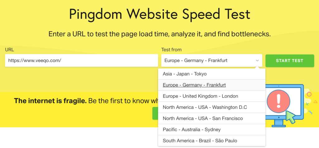Global Ecommerce: Tools like Pingdom can test site speed from several locations