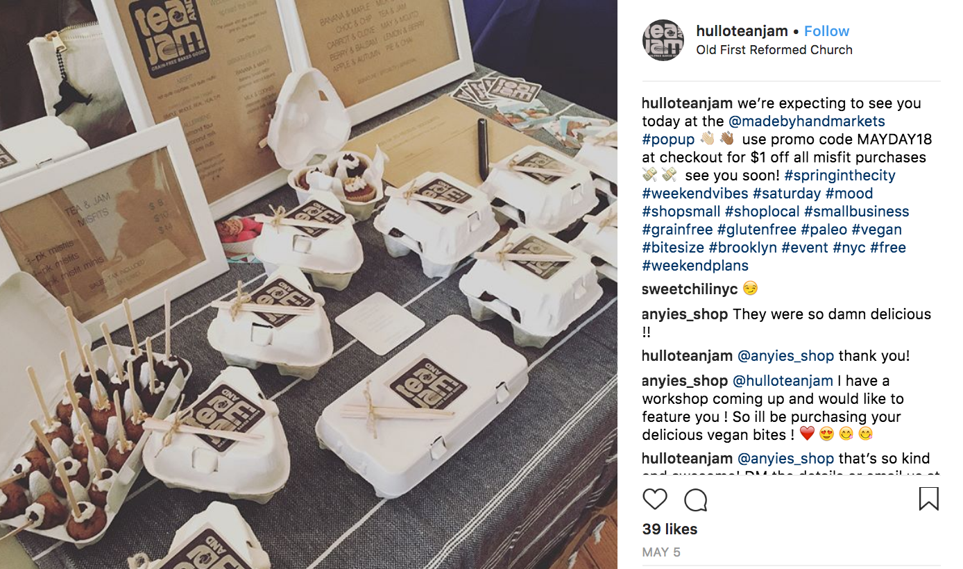 hulloteanjam pop up insta post