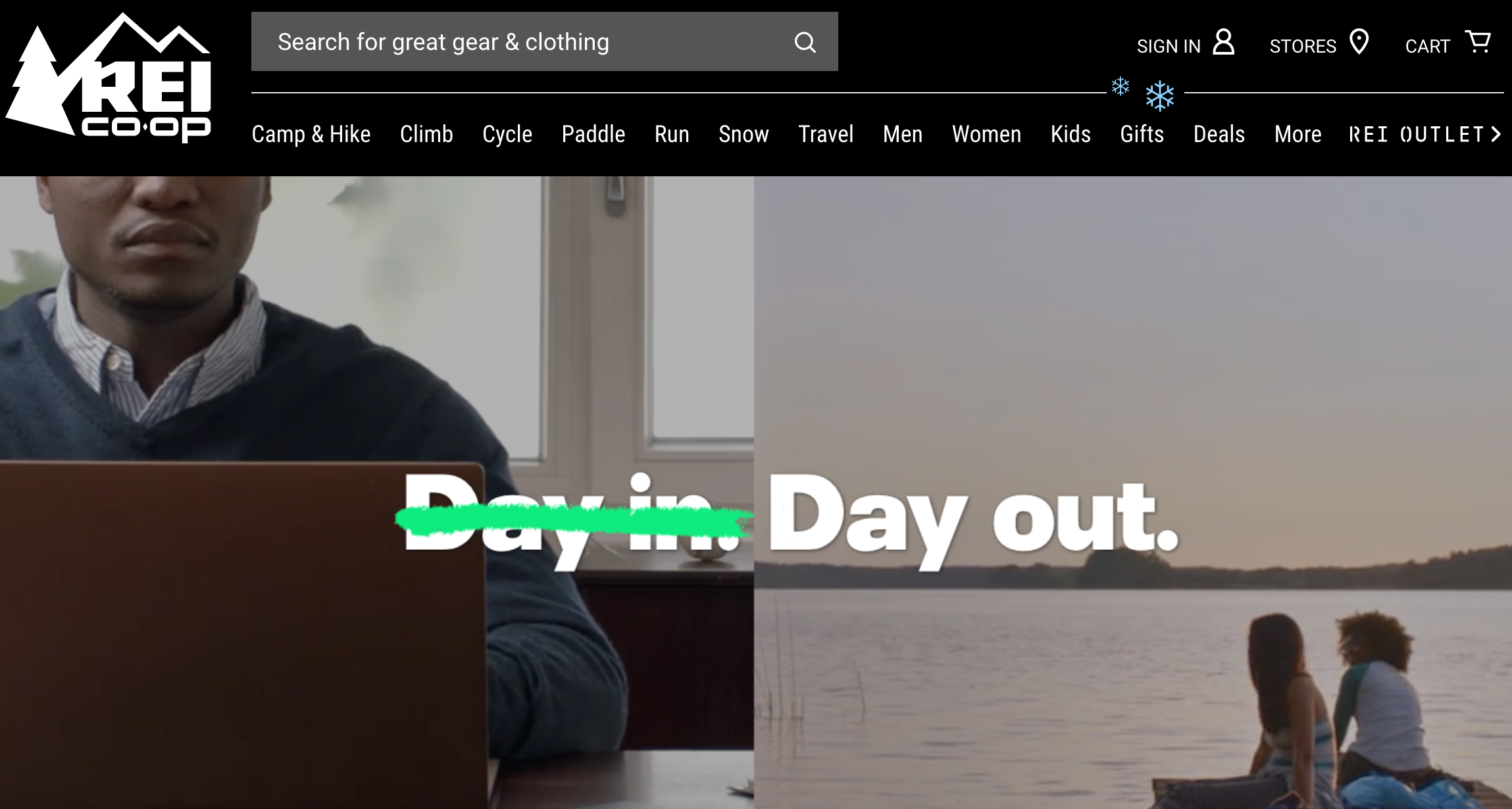 Retail Marketing Calendar 2019: REI Black Friday Day In vs Day Out