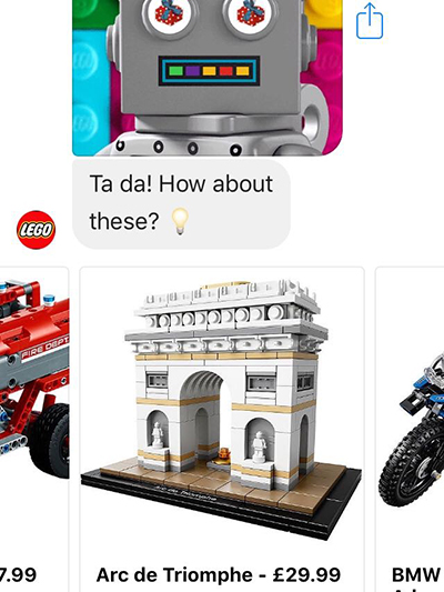 Social Commerce Lego Gift Bot Results