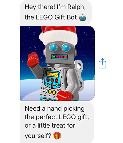 Ecommerce trends 2019: Lego gift bot