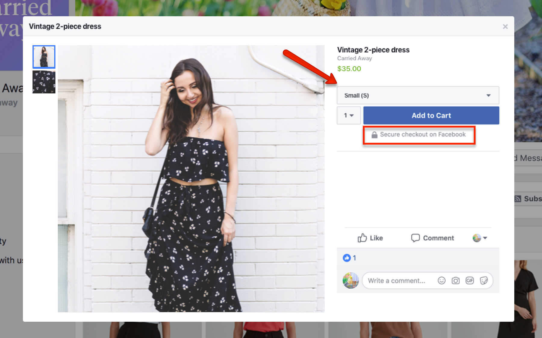 Social Commerce FB Direct Checkout