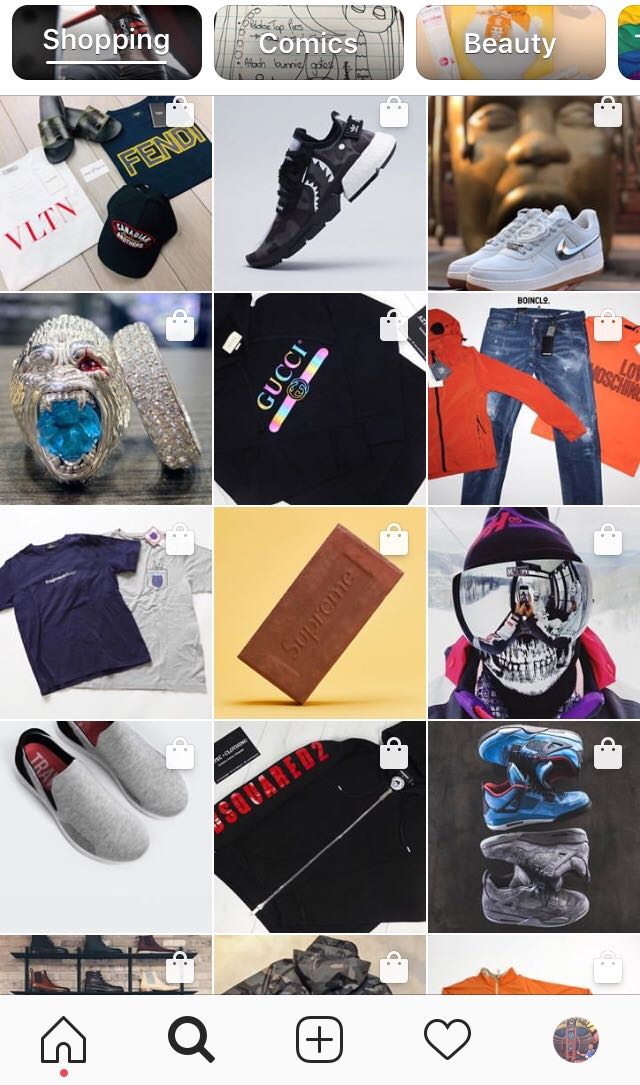 Social Commerce Insta Shopping Channel Feed