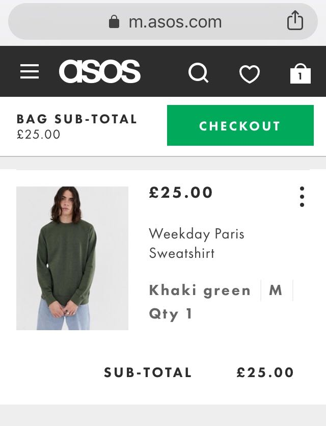 Omnichannel Strategy: Asos mobile site