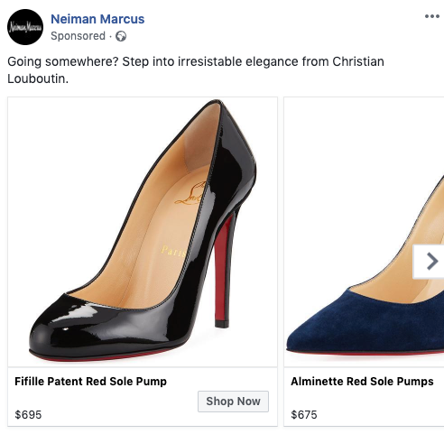 Neiman Marcus FB Remarketing Ad