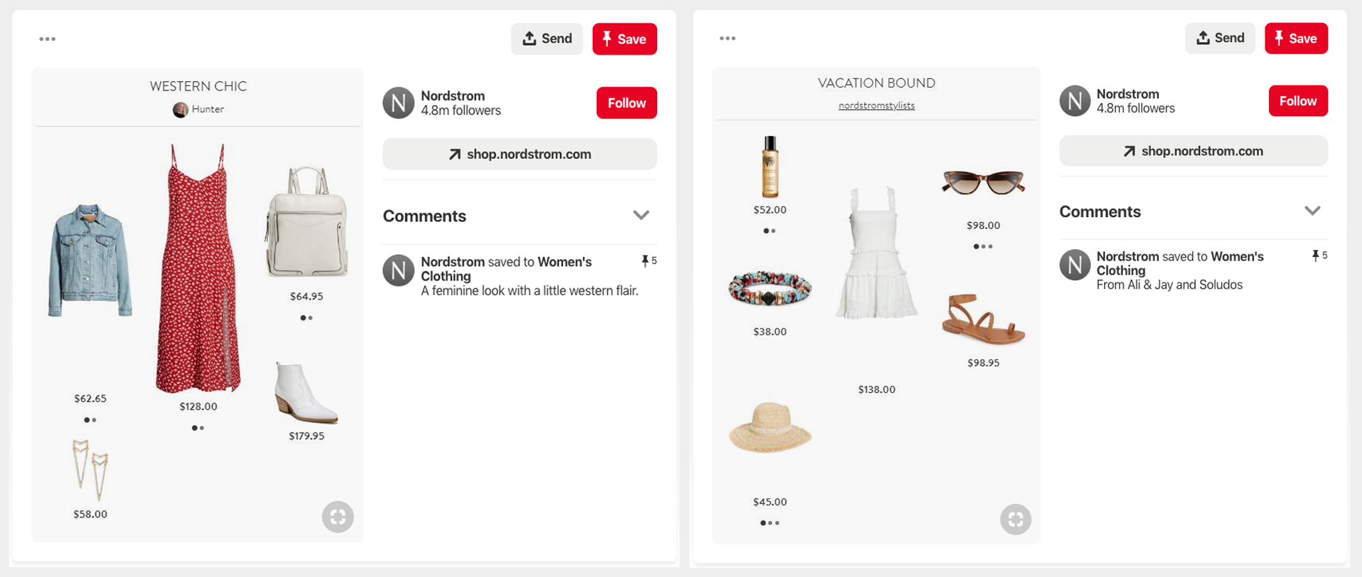 Nordstrom selling on Pinterest Western Chic & Vacation Pins