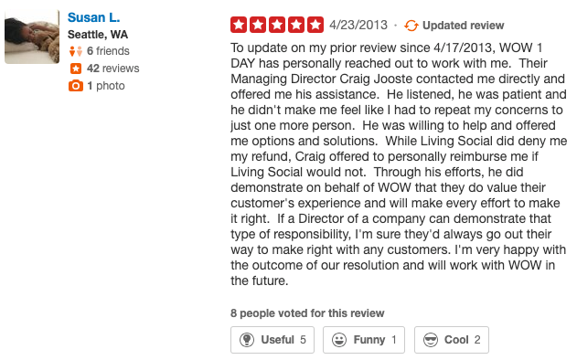 yelp responding to reviews