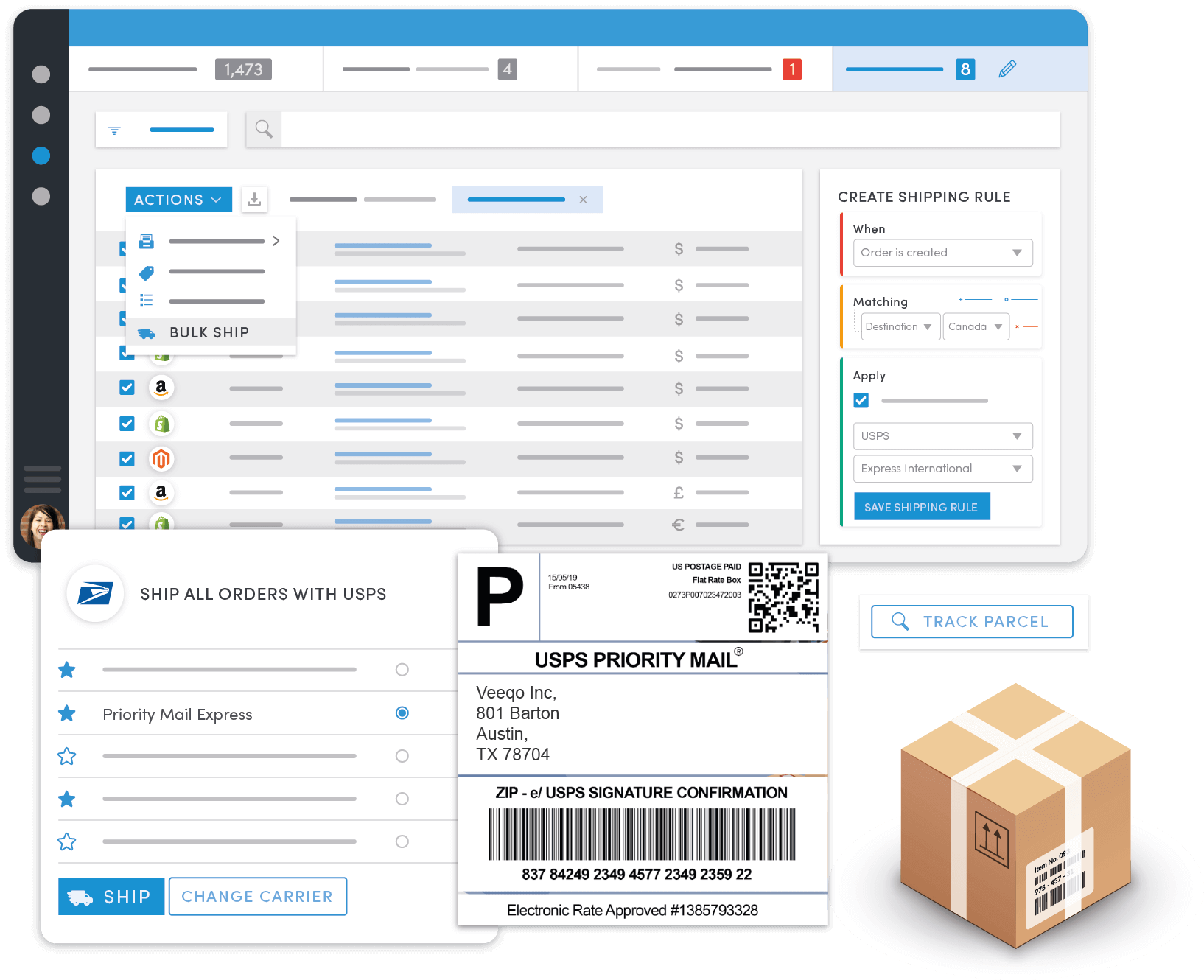 Shipping in Veeqo