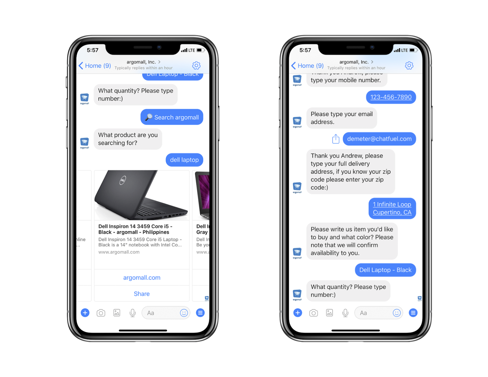 Chatbot Examples: Argomall