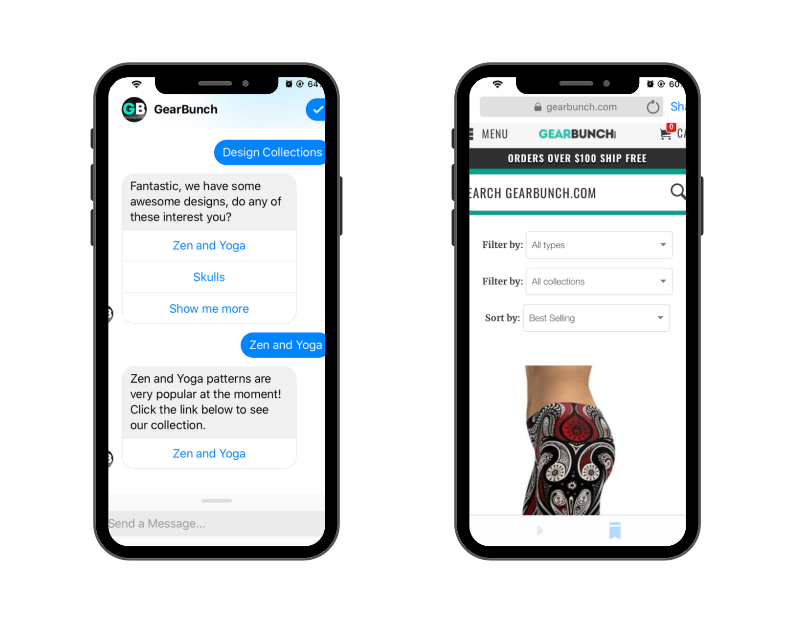 Ecommerce Trends 2020: GearBunch Chatbot Example