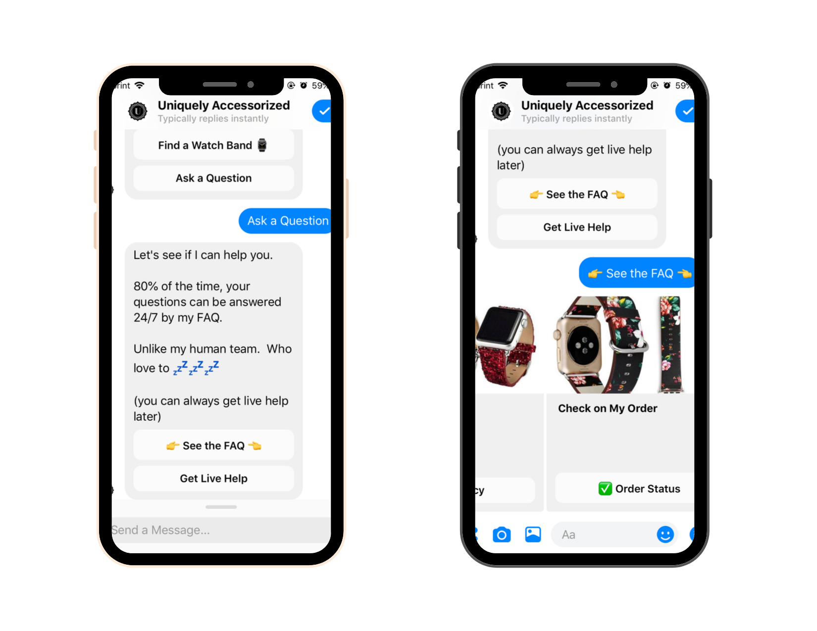 Chatbot Examples: Uniquely Accessorized 2