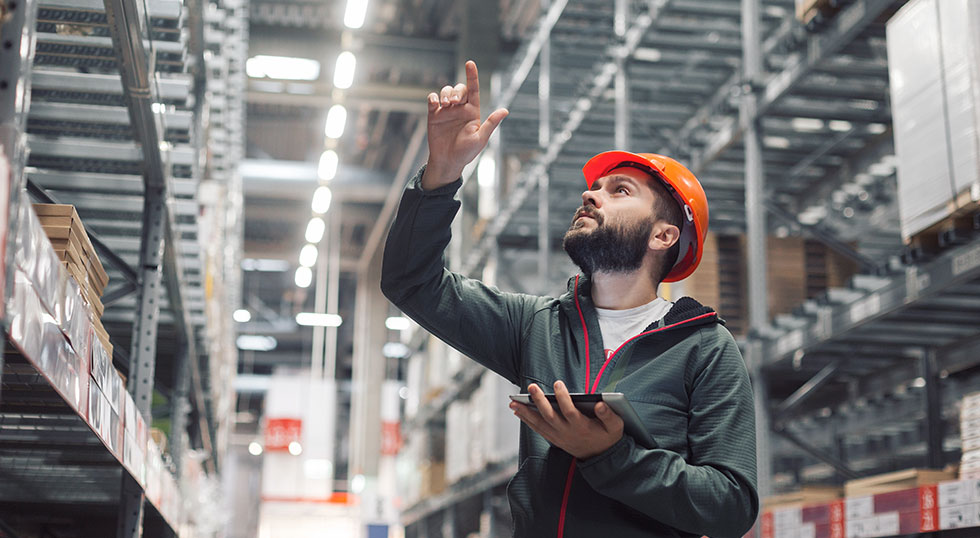 Man forecasting in warehouse