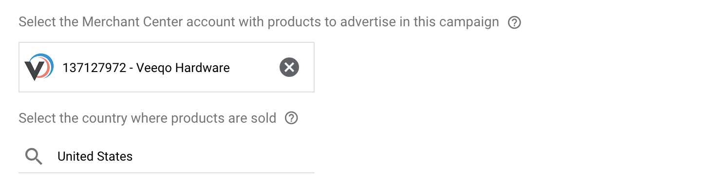 Google Ads: Connect Merchant Account