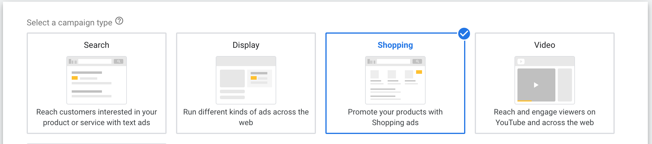 Google Ads: Campaign Type