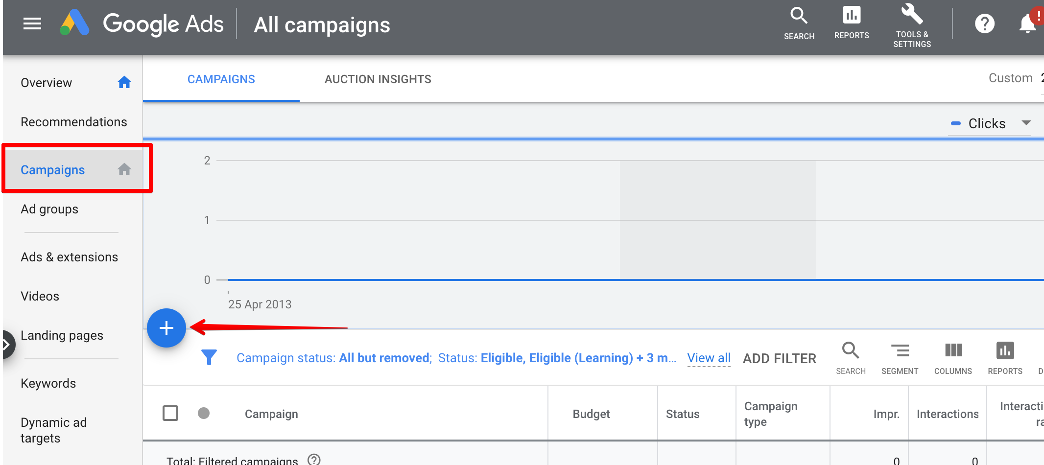 Google Ads: Create Campaign