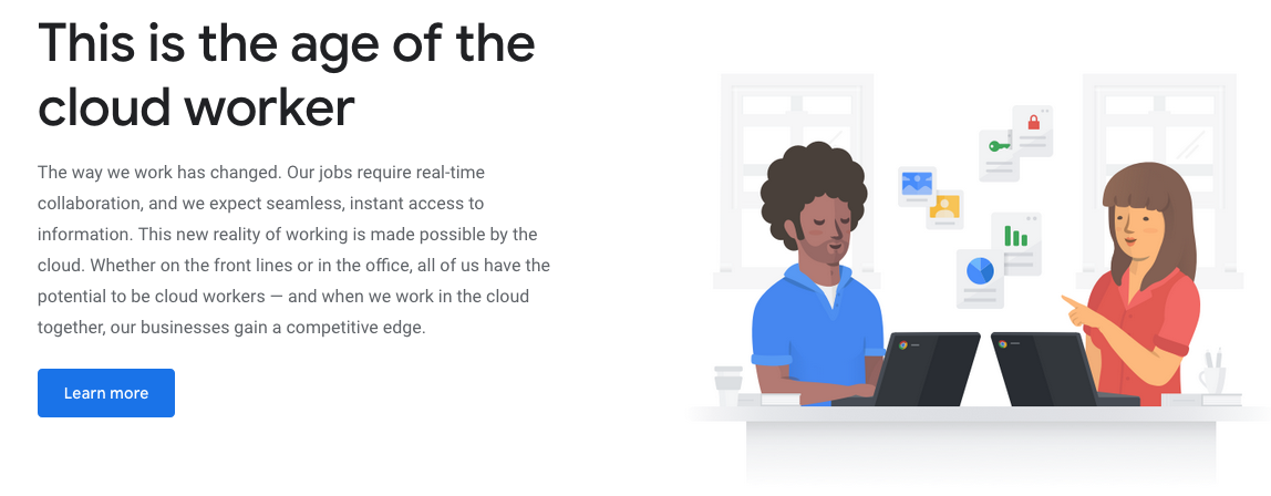 "Google ""Cloud Worker"" campaign"