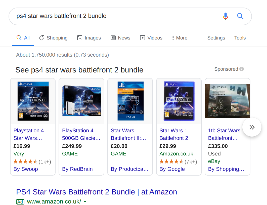Google Product Listing Ads reviews examples