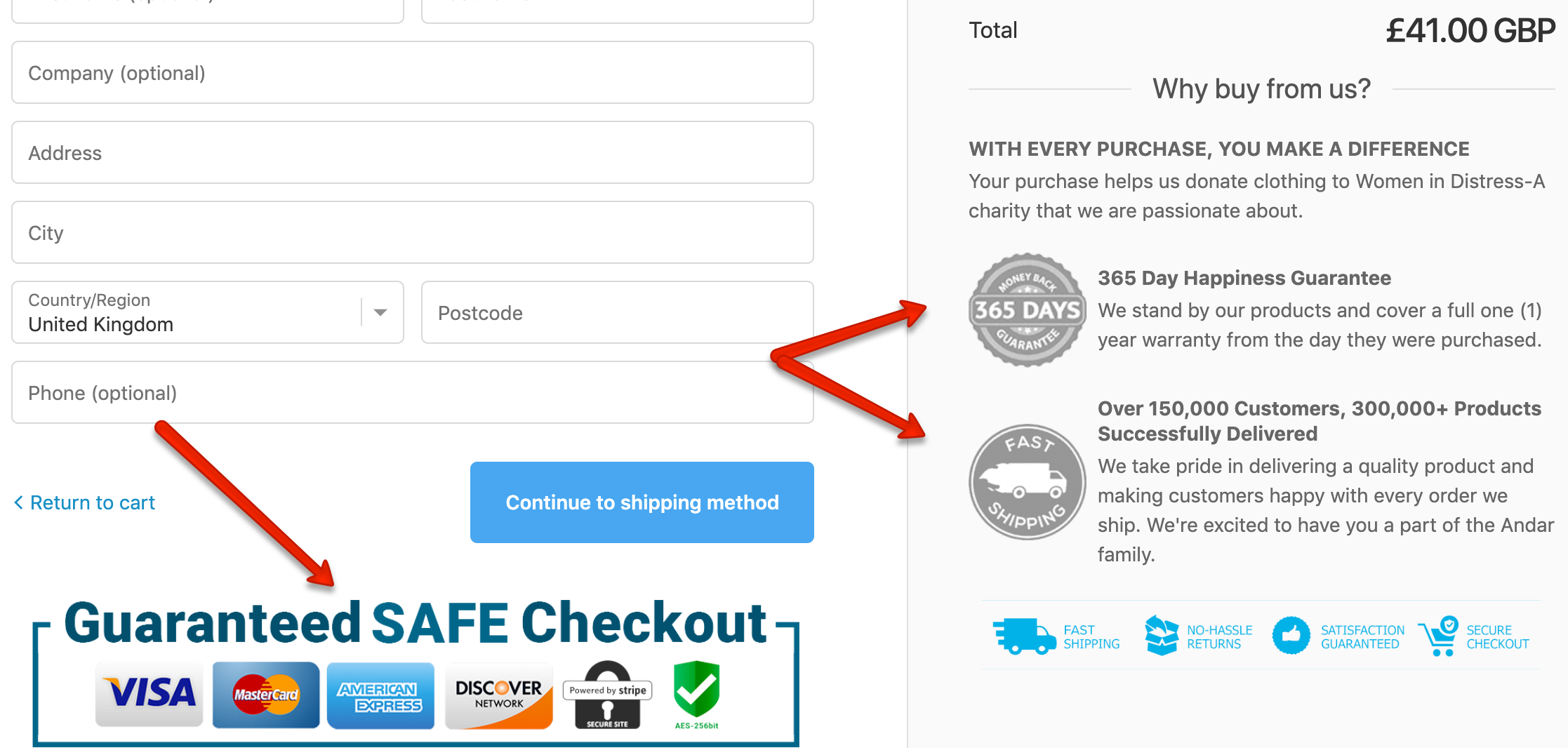 Military Hippie Ecommerce Checkout UX 2
