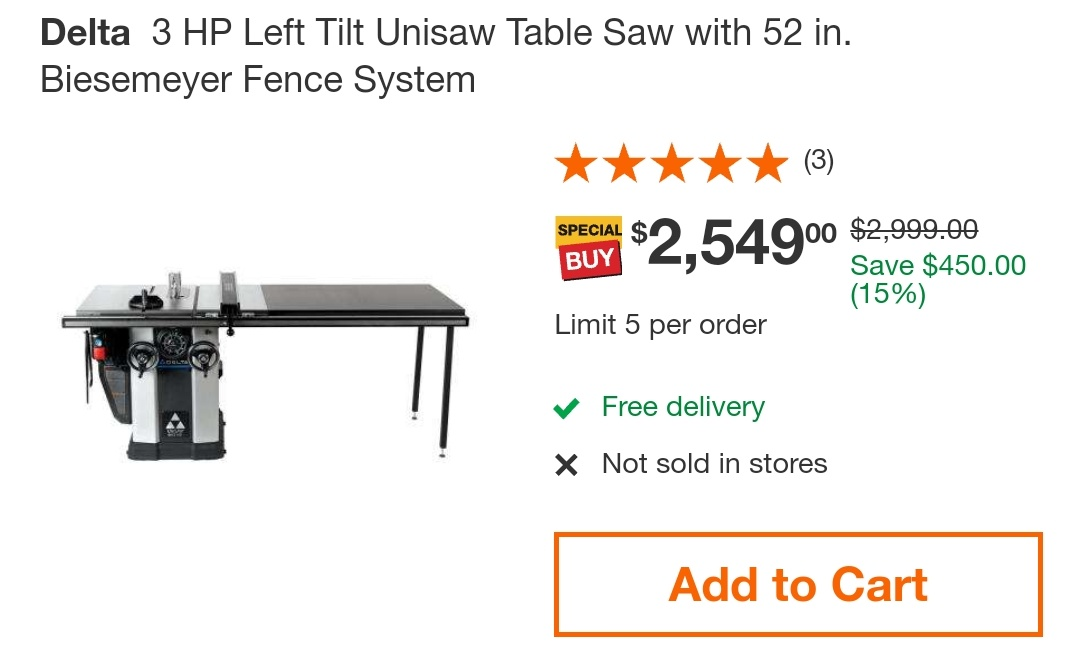 The Home Depot mobile category pages