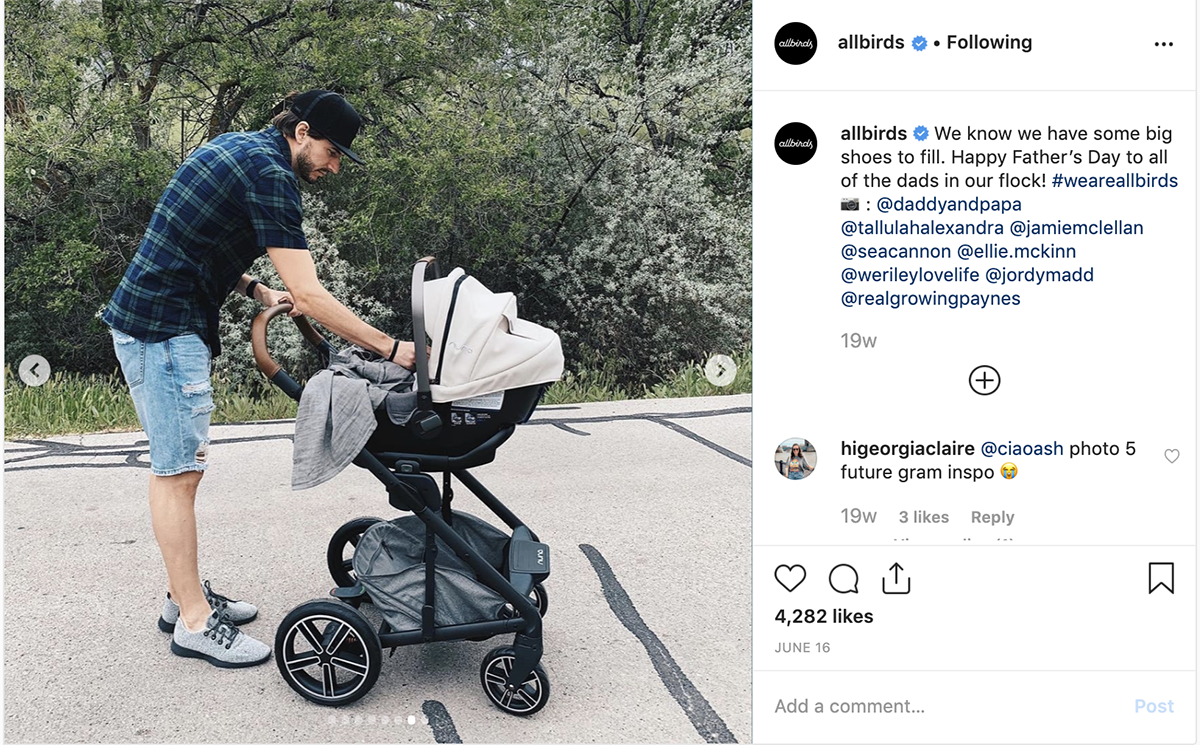 UGC Examples: Allbirds Father's Day Post